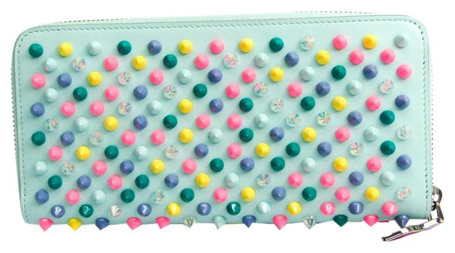 Item - Light Blue / Multi-color Long Panettone 1175100 Women's Leather (Bi-fold) Wallet