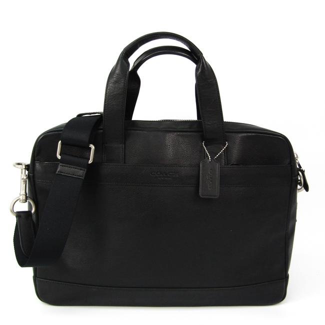 Item - Shoulder Hudson Smooth F71561 Men's Briefcase Black Leather Messenger Bag