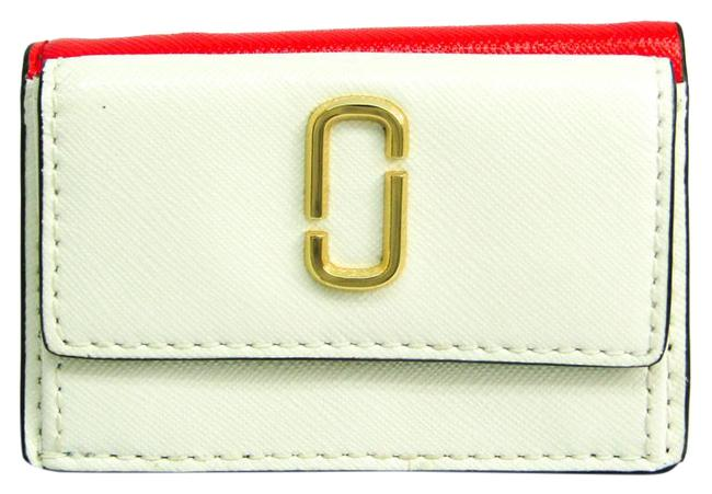 Item - Blue / Red Color / White Snapshot Mini Trifold M0013597 Women's Coated Leather (Tri-fold) Wallet