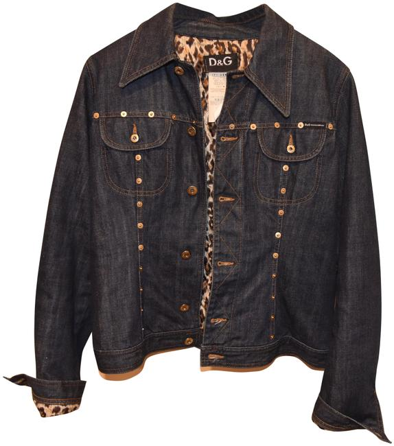 Item - Dark Denium Blue Unknown Jacket Size 6 (S)