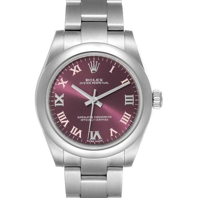 Item - Red Grape Oyster Perpetual Midsize Dial Ladies 177200 Watch