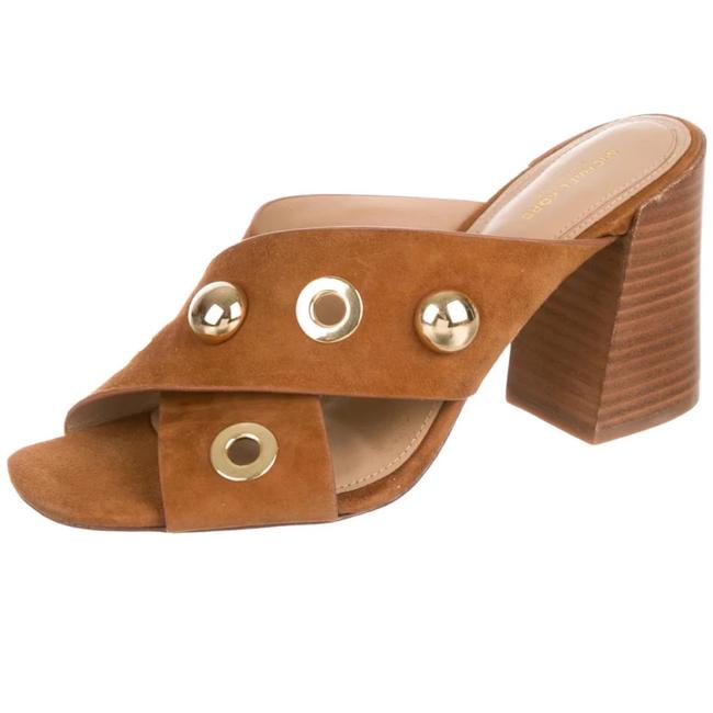 Item - Tan Suede Slide Sandals Size US 8.5 Regular (M, B)