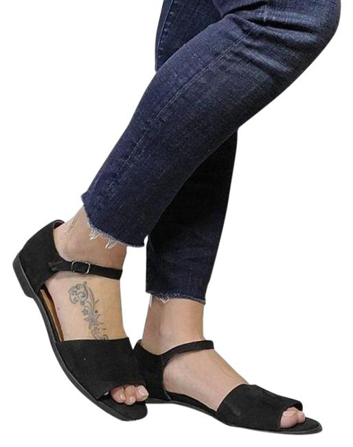 Item - Black Nubuck Sandals Size US 9 Regular (M, B)