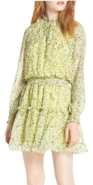 Item - Green Yellow Bright Color Short Casual Dress Size 4 (S)