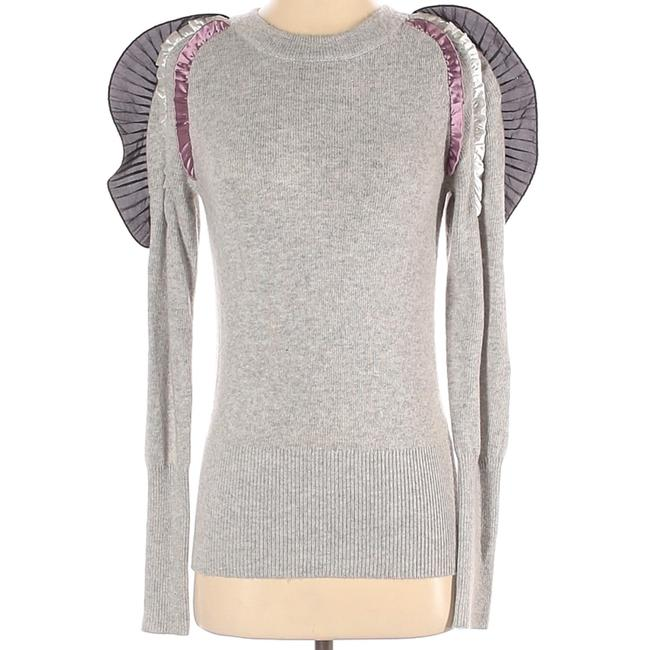 Item - Ruffled and Flared Knit Gray Sweater