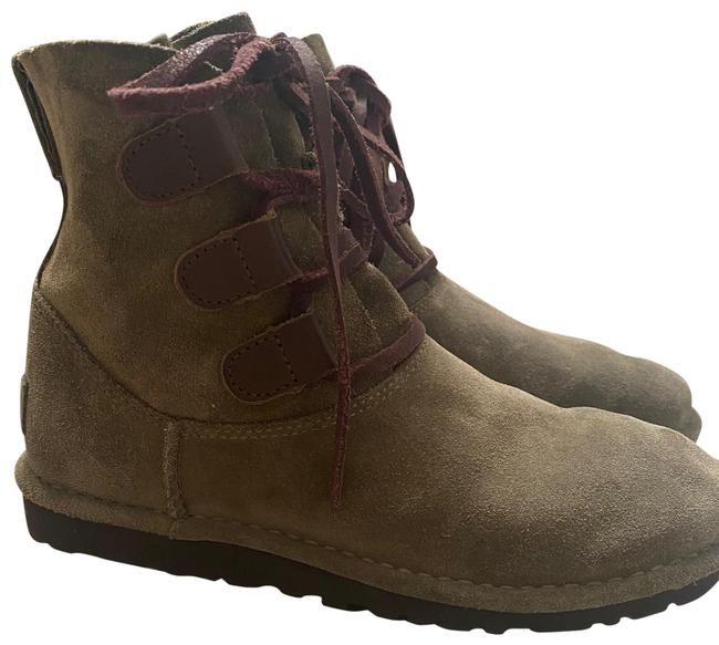 Item - Green Suede Lace Boots/Booties Size US 6 Regular (M, B)