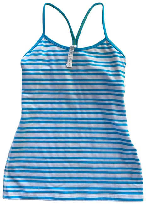 Item - Blue White Striped Nwot Tank Activewear Top Size 6 (S)