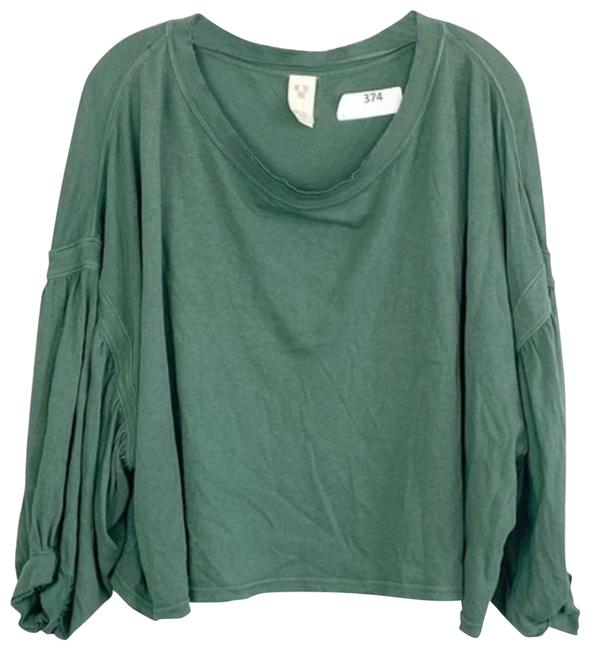Item - Green XS We The Sleeve Boxy Crop Tee Shirt Size 2 (XS)