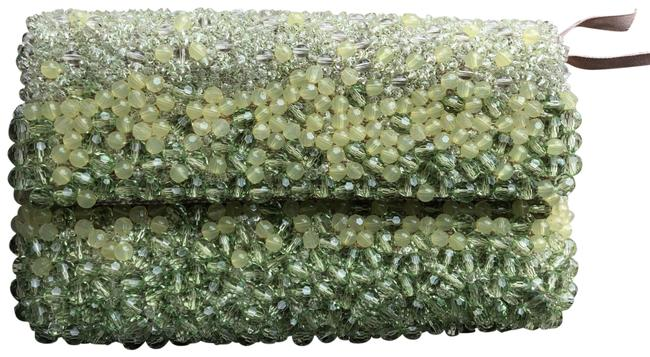 Item - Stone Tunnel Beaded Purse Handbag Green Clutch