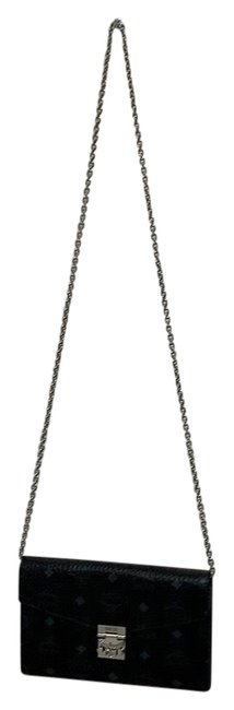Item - Patricia Black and Silver Finish Coated Canvas Cross Body Bag