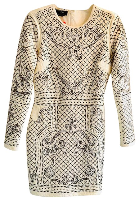 Item - Off White Sequin Retail 50% Off. Mid-length Night Out Dress Size Petite 6 (S)
