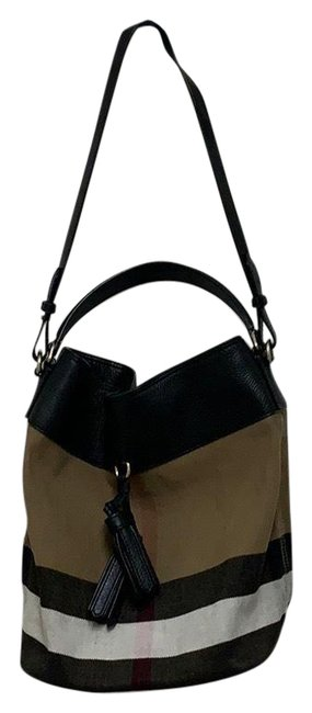 Item - Grainy Canvas Check Med Ashby Brown Black Hobo Bag