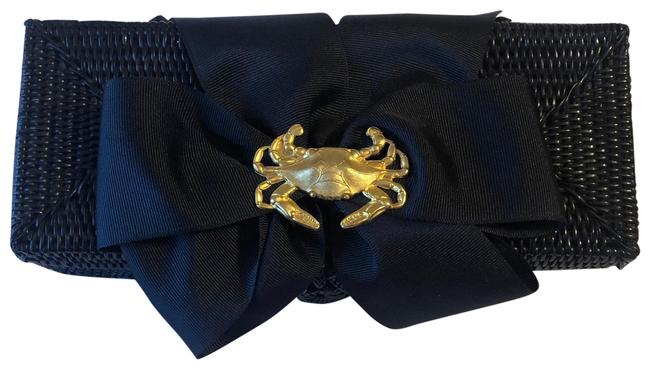 Item - With A Gold Lobster Accent On A Satin Ribbon Black Straw Clutch