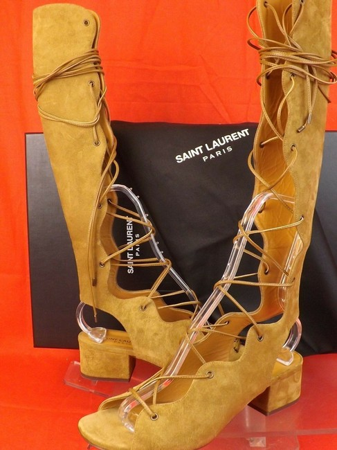 Jimmy Choo Silver Gladiator Lace Up Sandals Size EU 39
