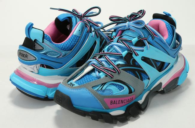 Item - Blue Track Clear Sole Sneakers Shoes