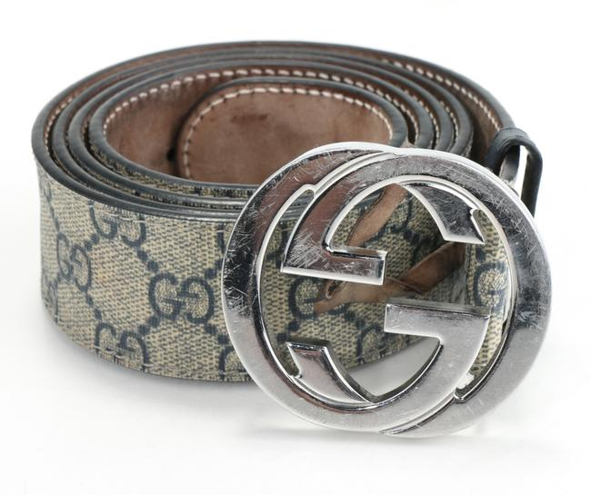Item - Blue/Brown Gg Supreme Belt with G Buckle Men's Jewelry/Accessory
