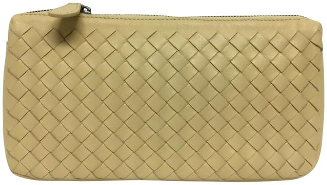 Item - Cream Intrecciato Zip Top Cosmetic Bag