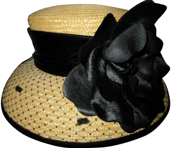 Item - Black and Wheat Nwot Straw - Kentucky Derby Worthy Hat