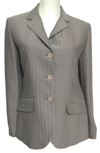 New York & Company Jacket Women Size 6 Gray Taupe Blazer