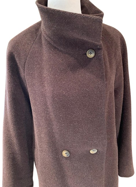 Item - Brown Alpaca/Mohair Classic Italian Design Collection. Coat Size 8 (M)