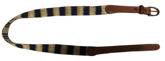 Madewell Striped Straw Belt