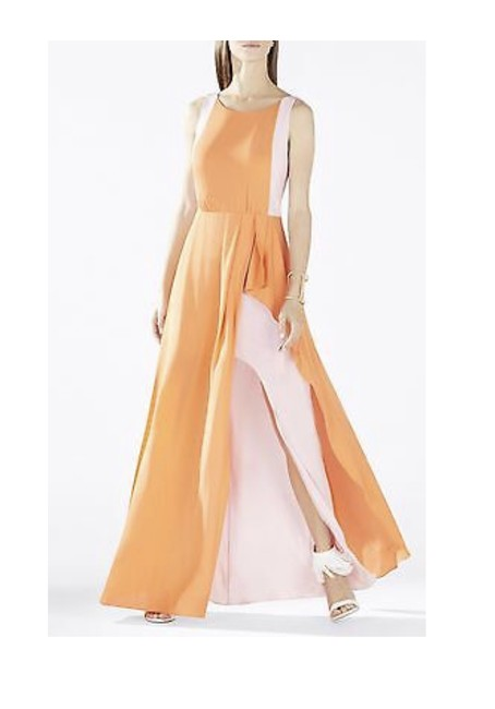 Item - Baby Pink and Orange Pink Scarletta Long Night Out Dress Size 0 (XS)
