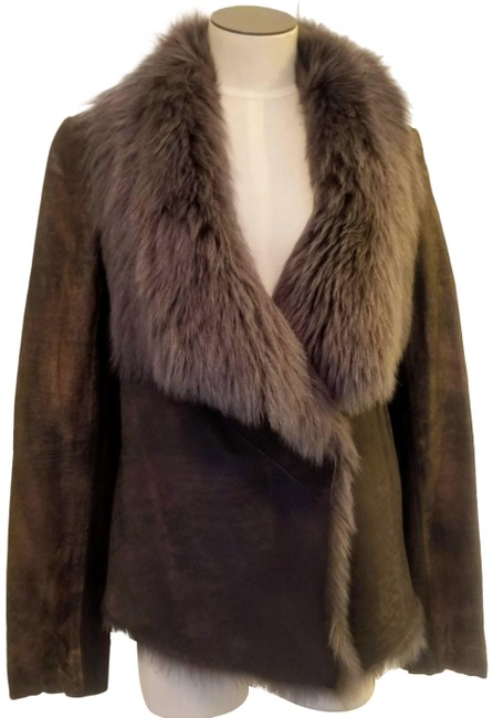 Item - Taupe Fur Sueded Jacket Size 10 (M)