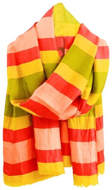 Item - Green/ Red/ Yellow Striped #163-66 Scarf/Wrap