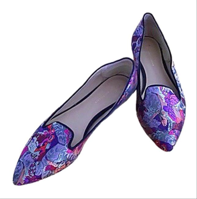 Item - Purple/Pink/Black Silk Covered Loafers 10.5 Flats Size US 10 Regular (M, B)