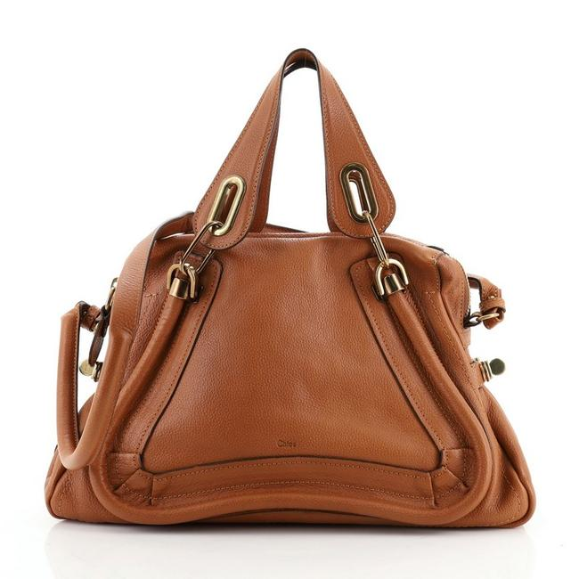 Item - Top Handle Bag Paraty Medium Brown Leather Satchel