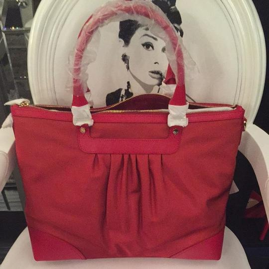 Moschino Tote in Dark Red