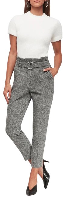 Item - Gray High Waisted Textured O-ring Belted Pants Size 10 (M, 31)