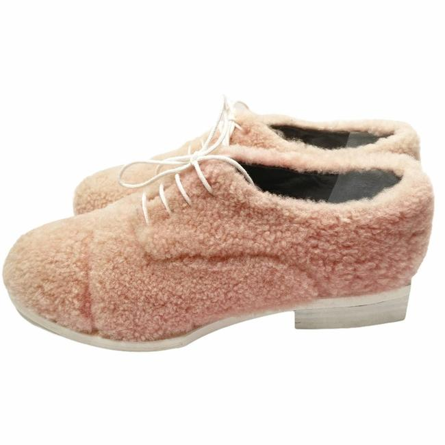 Item - Pink Fluffy Oxfords Made In France Flats Size EU 36 (Approx. US 6) Regular (M, B)