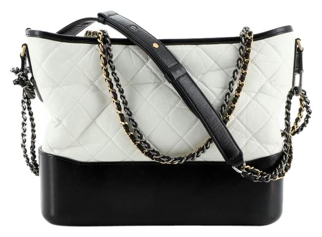 Item - Gabrielle Bicolor Quilted Aged Calfskin Medium Multicolor Leather Hobo Bag