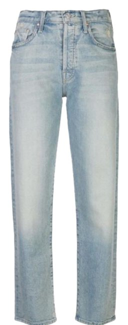 Item - Blue Light Wash The Huffy Flood Straight Leg Jeans Size 31 (6, M)