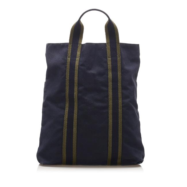 Item - Fourre Tout Cabas Blue Canvas Tote