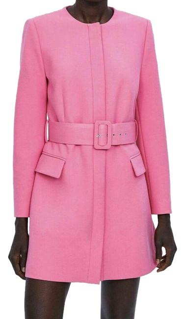 Item - Pink Frock Belted Coat Size 4 (S)