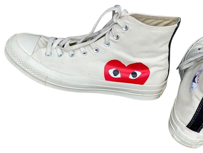 Item - White with Red Comme Des Garçons Sneakers Size US 10 Regular (M, B)
