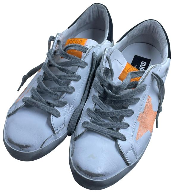 Item - White and Orange Stripe Sneakers Size EU 38 (Approx. US 8) Regular (M, B)
