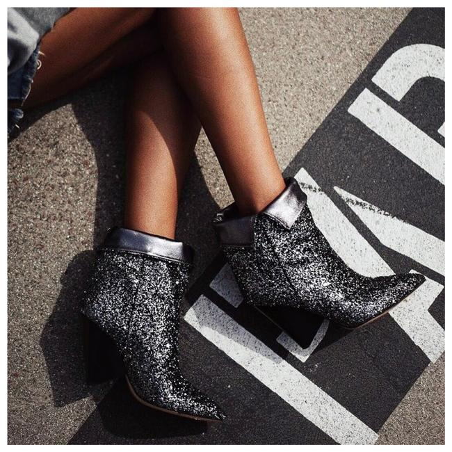 Item - Silver Charcoal Luliana Glitter Ankle Boots/Booties Size EU 36 (Approx. US 6) Regular (M, B)