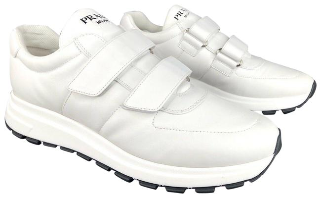 Item - White Men Nappa Sport Leather Strap - 12 Sneakers Size US 11.5 Regular (M, B)