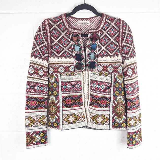 Item - Multi Colored Aldomartins Inverness Abbie Tassell Jacket Cardigan Size 2 (XS)