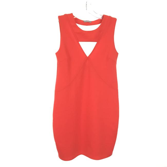 Item - Red Cut Bodycon Short Night Out Dress Size 4 (S)