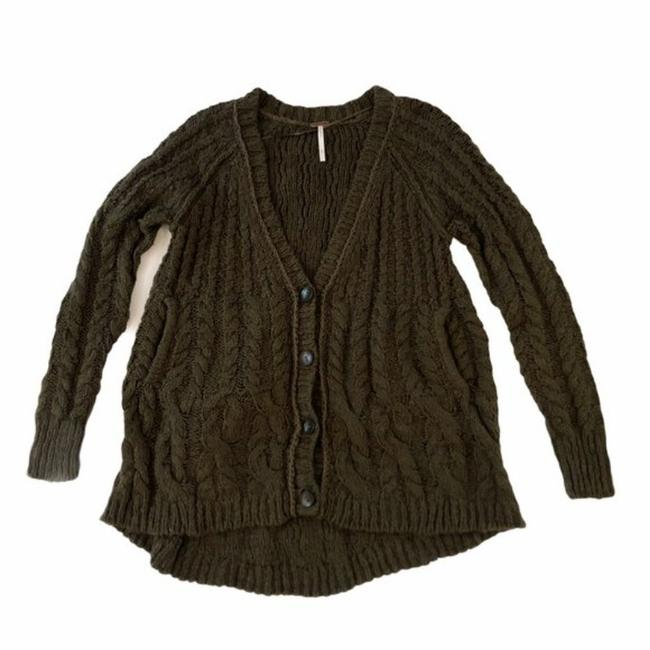 Item - Fatigue / Olive Green Chunky Cardigan Size 2 (XS)