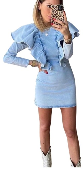 Item - Blue Short Casual Dress Size 2 (XS)