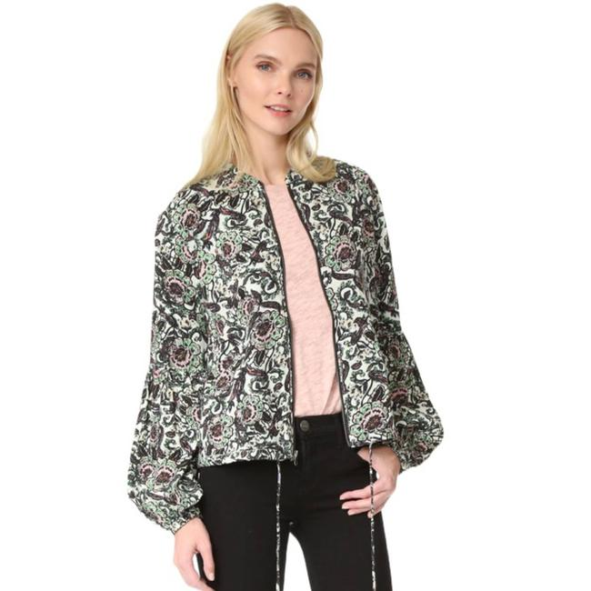 Item - Multicolor XS Soft Printed Balloon Sleve Zip Up Top Jacket Size 0 (XS)