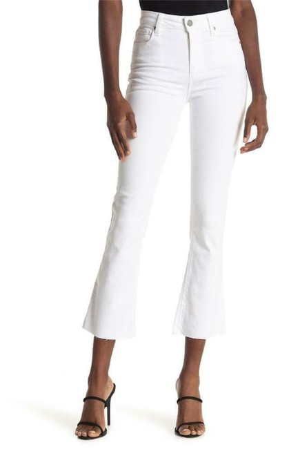 Item - Optic White Rory Crop with Raw Hem Flare Leg Jeans Size 27 (4, S)