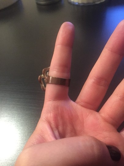 Urban Outfitters Copper Black Flower Ring