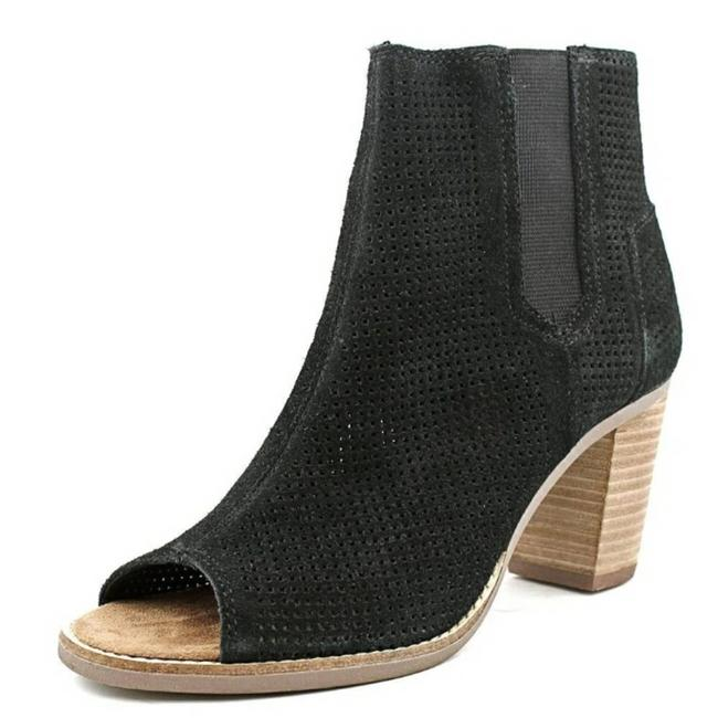 Item - Black Ankle Open Suede Perforated Tassel Boots/Booties Size US 8 Regular (M, B)