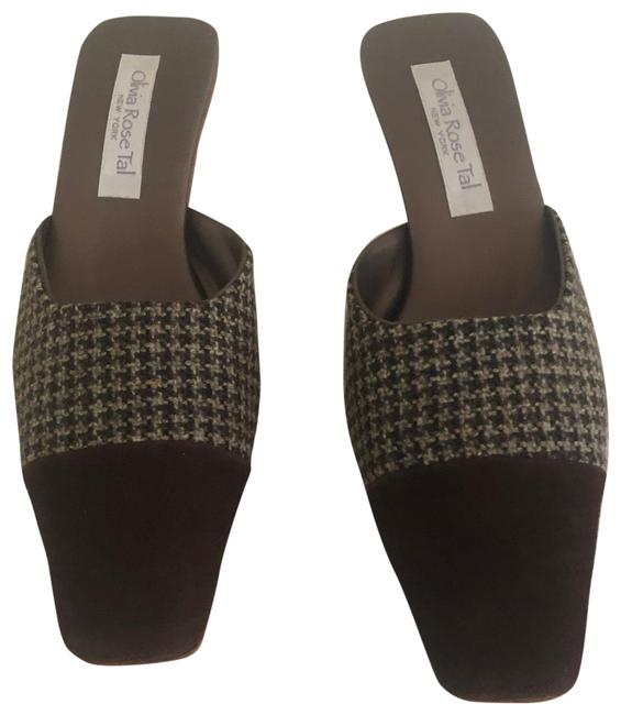 Item - Brown and Beige Styling 11 Mules/Slides Size US 7 Regular (M, B)